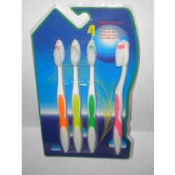 Tandbørste sæt med 4 stk.