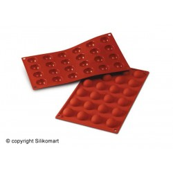 Bage-/Chokoladeform, Halvkugle, 24 stk. Ø 30 mm., D 15, Platinsilikone