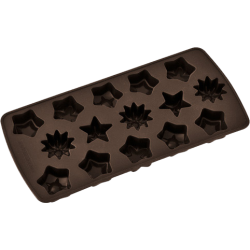 Chokoladeform. Silikone, hjerter eller stjerner, Zenker
